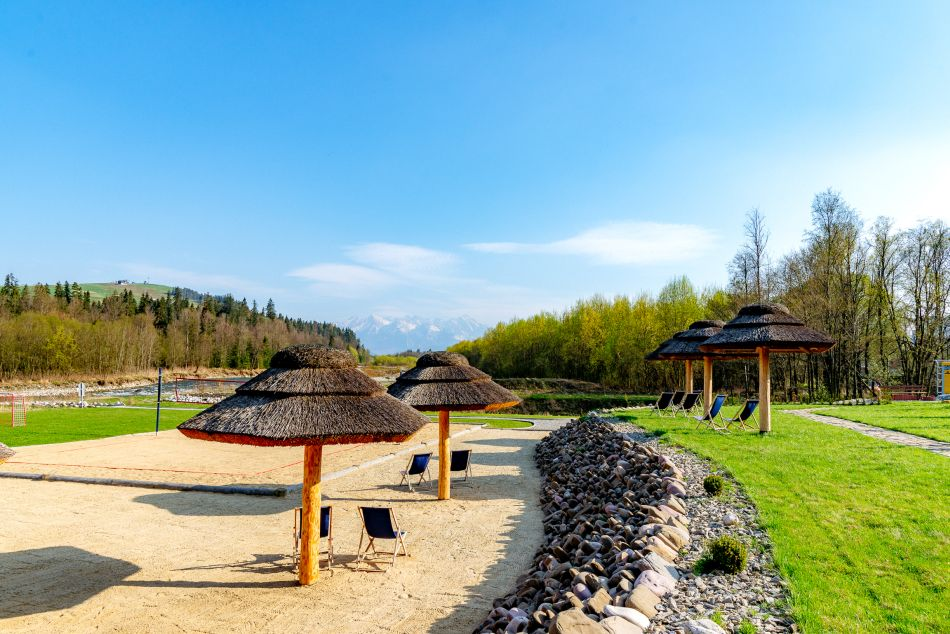 tatra mountains, wievs, sunny, garden, beach, river